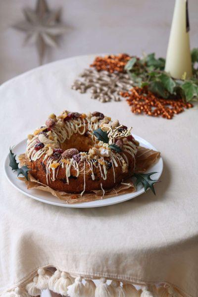 クリスマスのリースケーキ。